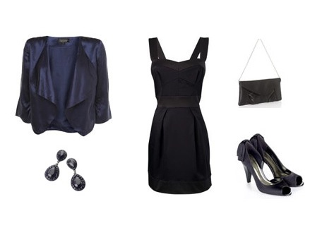 Dress from FCUK, Shoes from Monsoon, Statement Jacket from Topshop, Earrings and clutch from Accessorize