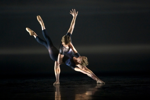 Elisha Willis and Joseph Caley in BRB's E=mc2 Photo: Bill Cooper Source: BRB ©